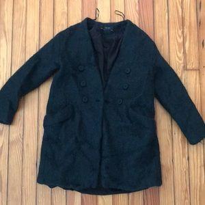 Zara Emerald Sweater Coat